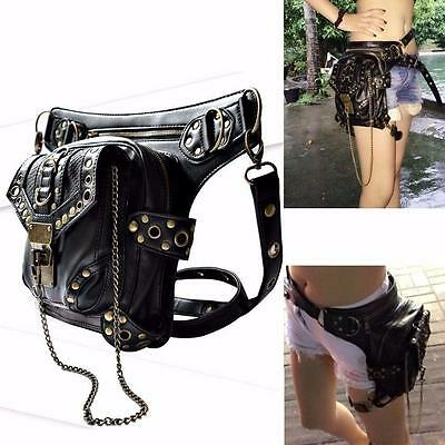 Retro Hippies Steampunk Handbag Coin Purse Leg Bag Waist Pack Shoulder Bag Pouch