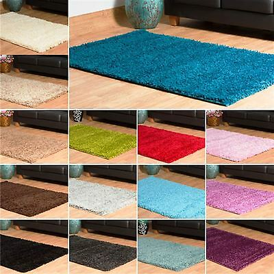 Shaggy Modern Small Extra Large 5cm Thick Soft Rugs Cheap Plain Non shed Mats