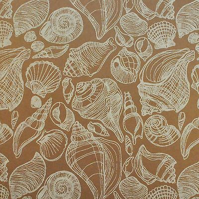 10 x A4 Screen Printed Shellscape in Brown Craft, Invitations/Scrapbooking Paper