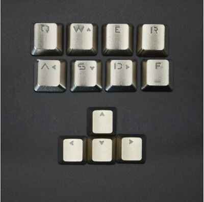 G QWERASDF+UP Down Left Right Metal Key Cap Keycaps Button f Mechanical Keyboard