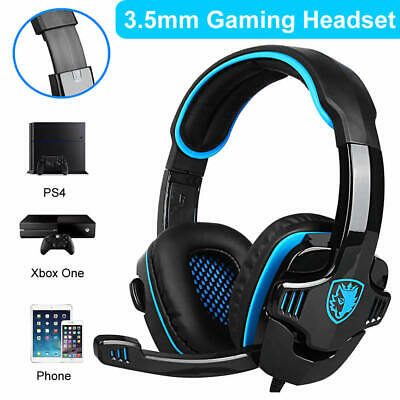 Sades 3.5mm Stereo Gaming Headset For PS4 XBOX ONE/360 PC Microphone Headphones