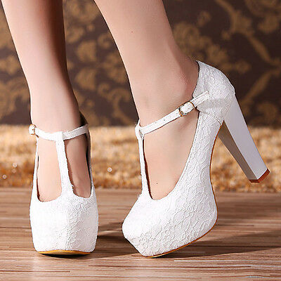 Princess Lace Hollow High Heels Party Queen With Platform Wedding Shoes