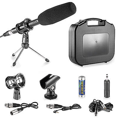 Neewer Black Professional DSLR Microphone Kit for Canon EOS DSLR