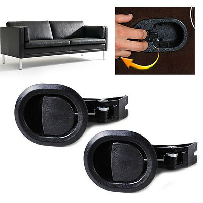 2Pcs Oval Recliner Sofa Couch Chair Release Lever Handle Hard Plastic 5mm cable
