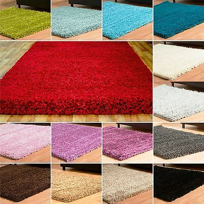 Small Large Thick High 5 CM Pile Soft Modern Plain X-Extra Non-shed Shaggy Rug
