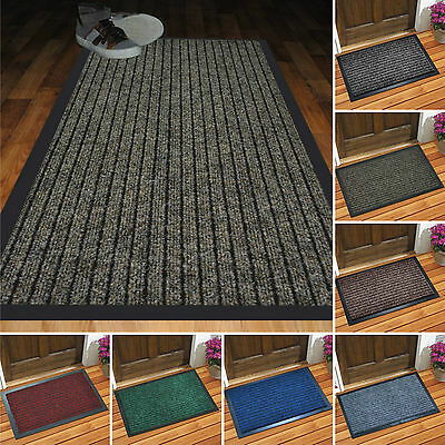 Heavy Duty Non Slip Floor Mat Entrance Machine Washable PVC Rubber Back Door Mat