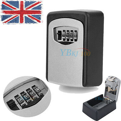 Outdoor Key Safe Box Combination Lock 4 Digit  Key Security Car / House Safety