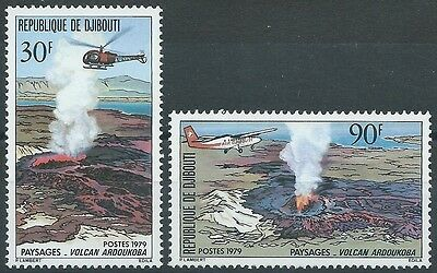 DJIBOUTI - N°497 à 498 // 2 Timbres Neufs // 1979 - VOLCANS
