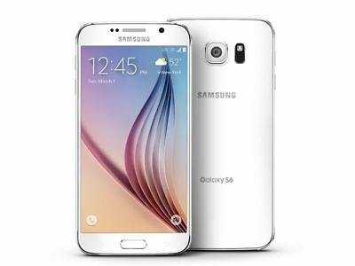 New Samsung Galaxy S6 Sm-G920A 32Gb At&t Unlocked White Pearl Smartphone