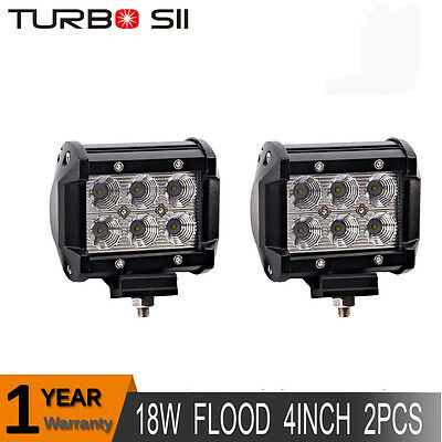 pair 4inch 18W Cree LED Work Light Bar Driving Fog Flood Truck Offroad JEEP pods