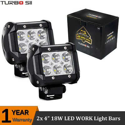 Pair 4Inch 18W Cree LED Spot Light Bar Off road SUV ATV UTE Truck 4X4 Boat Pods