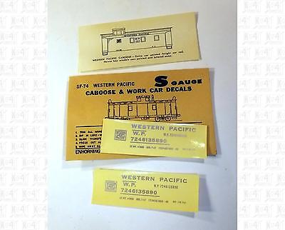 Enhorning S Decals Western Pacific Caboose Silver SF-74