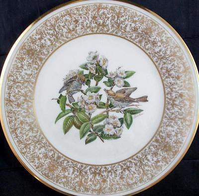 Lenox BOEHM BIRDS Collectible Plate 1970 Wood Thrush A+ with Box & Certificate
