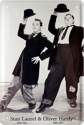 STAN LAUREL & OLIVER HARDY KOMIKER BLECHSCHILD 20x30 TIN SIGN 1204