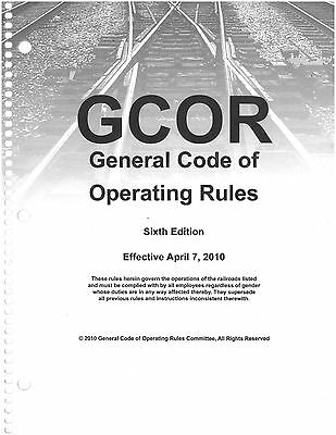 gcor general code of operating rules 6th edition april 7 2010 rh picclick com Gcor Practice Test Gcor Manual for Railroads