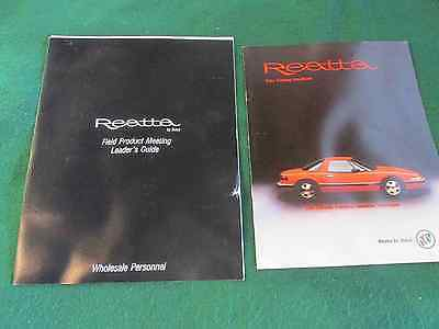 1987-1988 Buick Reatta Zone Meeting Introducing Zone Reps to the New Reatta