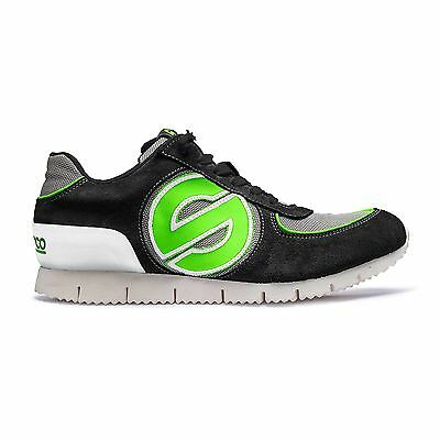 Sparco Genesis Low Leisure Shoes / Trainers - Black / Green - UK 8 / Euro 42