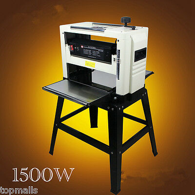 "Professional 12-1/2"" Woodworking Thickness Planer 1500W 220V Tables& Knives"