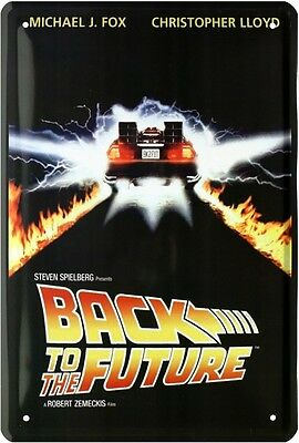 BACK TO THE FUTURE MICHAEL J. FOX FILM BLECHSCHILD 20x30 TIN SIGN 1265