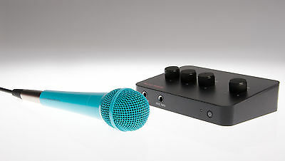 Lucky Voice Karaoke Machine (blue mic) with instant access to 8,000+ songs