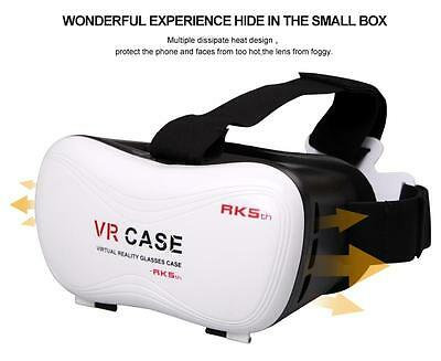 """VR Case 5th Virtual Reality 3D Glasses Headset For 3.5""""-6"""" Phone with Controller"""