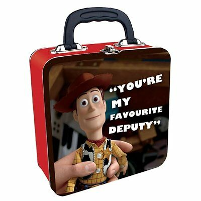 """Woody Toy Story """"You're My Favourite Deputy"""" Square Tin Tote Lunch Box"""