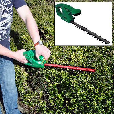 "Heavy Duty 450W 18"" Blade Electric Garden Tree Bush Hedge Trimmer Cutter Saw"