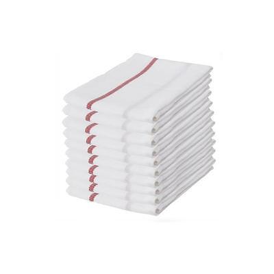 10x IKEA TEKLA 100% Cotton Kitchen Tea Towels Dishcloth 50 x 65cm in Red & White