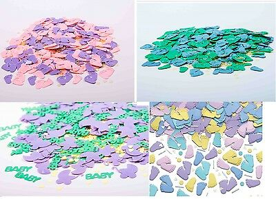 Baby Shower Table Confetti - Baby Feet - Pitter Patter - Baby & Pram Pink & Blue