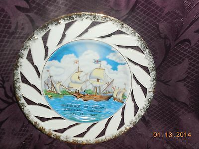 """Jamestown Virginia Birthplace Of America May 13, 1607 8"""" Collector Plate"""