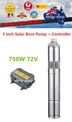 "4"" 750W 96V SUBMERSIBLE SOLAR WATER BORE WATER PUMP SYSTEM Auto Control"