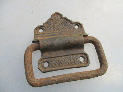 Antique Iron Chest Handle Drawer Pull Vintage A.K&Sons Hardware Old Single