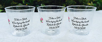 Personalized Plastic Wedding Cups Custom Cup Motorcycle Wedding Favors 455