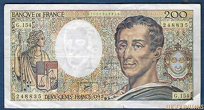 200 Francs Montesquieu Type 1981 - 1992 G.154 Qualité TTB