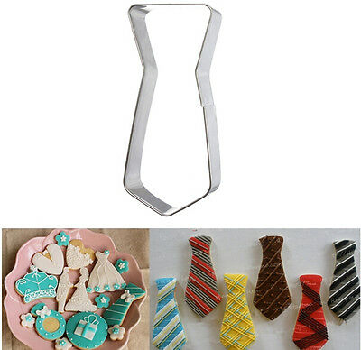 Stainless Steel Tie Pattern Cake Cupcake Baking Cookie Biscuit Cutter Tools Hot