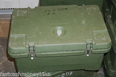 "Military Surplus Cambro 3 Compartment Insulated 8"" Deep Food Carrier Hot Cold"