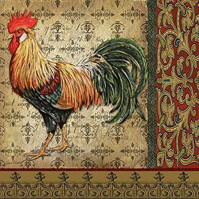 FRAMED Old World Rooster 12x12 Art Print Wall Decorative by Jean Plout
