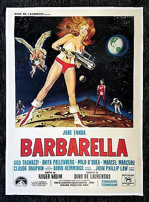 BARBARELLA * CineMasterpieces JANE FONDA HUGE RARE ITALIAN MOVIE POSTER 1968