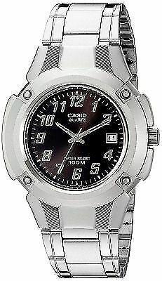 Casio MTP3036A-1A Men's Stainless Steel Black Dial 100M Casual Sports Watch