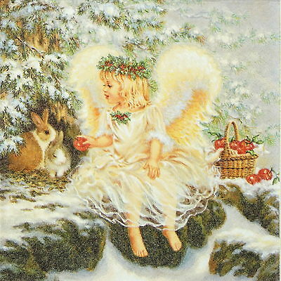 4x Paper Napkins for Decoupage Decopatch Craft Lovely Angel