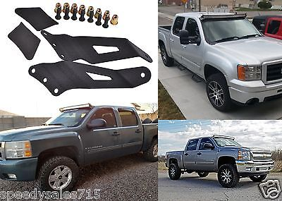 "50"" Windshield Brackets for Curved LED Light Bars For 2007-2013 Chevy/GMC New"