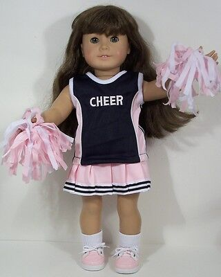 "PINK BLACK Cheer Cheerleader Costume Doll Clothes For 18"" American Girl (Debs)"