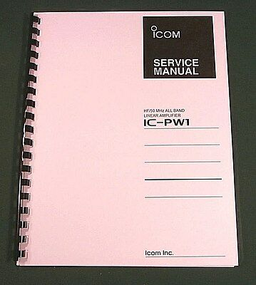Icom IC-PW1 Service Manual - Premium Card Stock Covers & 28lb Paper!