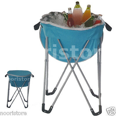 Large Outdoor Ice Bucket Foldable Drinks Drink Cooler Chiller Floor Stand