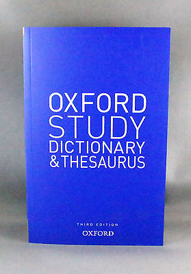 Oxford Study Dictionary and Thesaurus Third Edition - Brand New Paperback