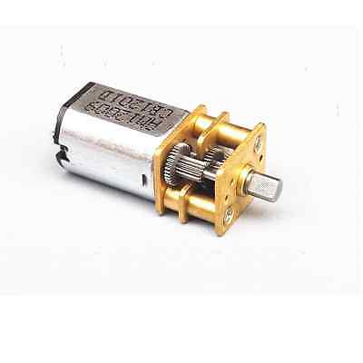 DC 6V 30RPM Micro Speed Reduction Gear Motor with Metal Gearbox Wheel Shaft NEW
