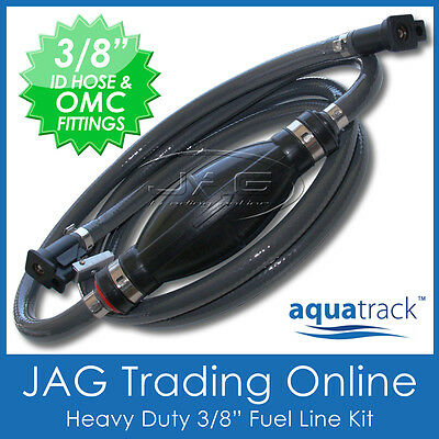 "3/8"" OUTBOARD FUEL LINE - JOHNSON EVINRUDE/ETEC OMC - 10mm ID Boat/Marine Hose"