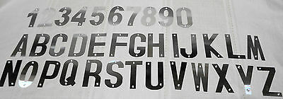 Letter & Numbers Aluminumn Metal, 77mm High House Number
