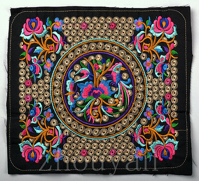 China abroriginal Mandala Vintage Embroidery piece QUILT TOP: LONG LIFE FLOWER