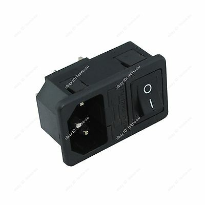 New Snap-in Universal AC Power Socket Rocker Switch with 5*20mm Fuse 20808